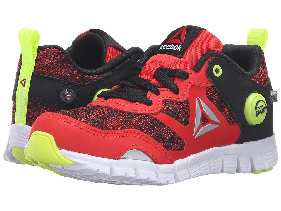 Reebok Kids - ZPump Instinct WW (Little Kid) (Riot Red/Black/Solar Yellow/White/Silver) Boys Shoes
