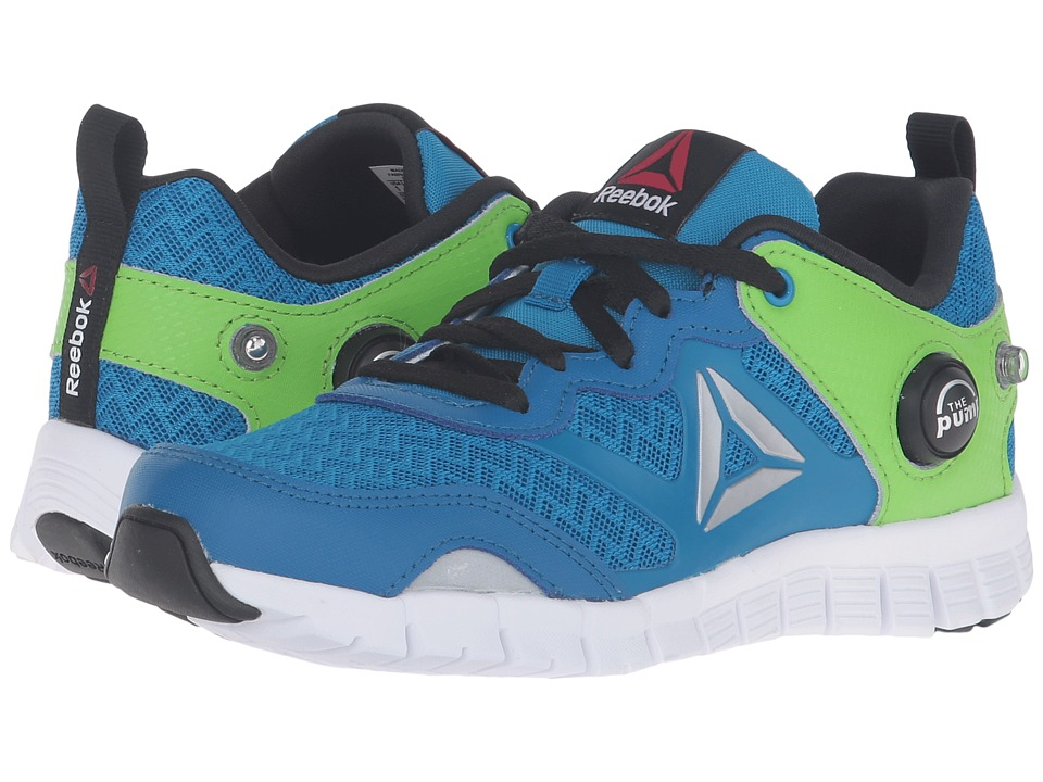 Reebok Kids - ZPump Instinct (Little Kid) (Instinct Blue/Semi Solar Green/Black/White/Silver) Boys Shoes