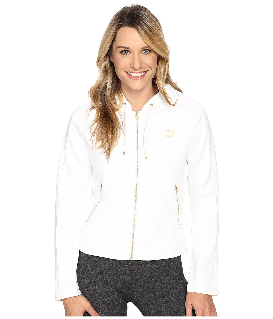PUMA - Gold T7 Full Zip Hoodie (PUMA White) Women's Sweatshirt