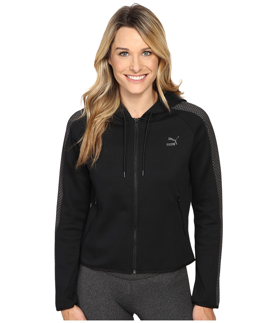 PUMA - Gold T7 Full Zip Hoodie (PUMA Black) Women's Sweatshirt