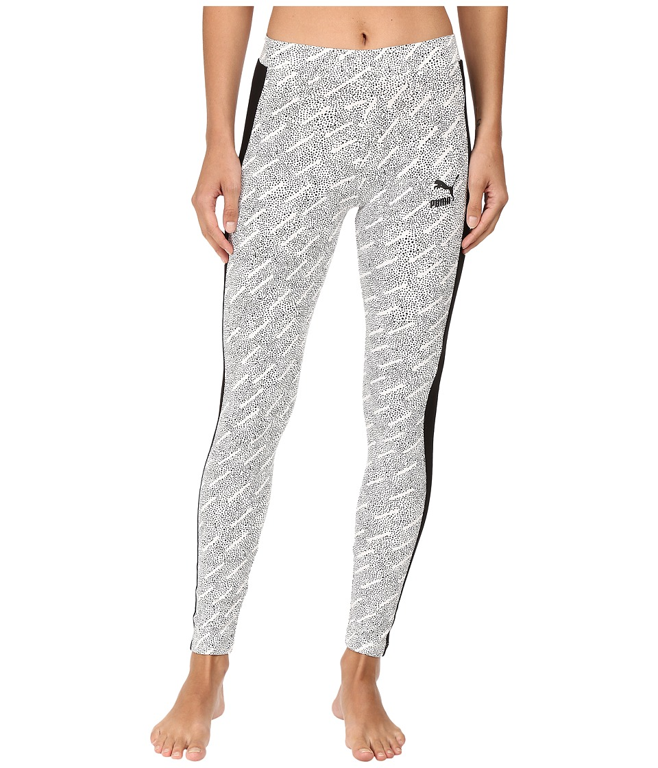 PUMA - AOP T7 Leggings (Puma White/AOP) Women's Casual Pants