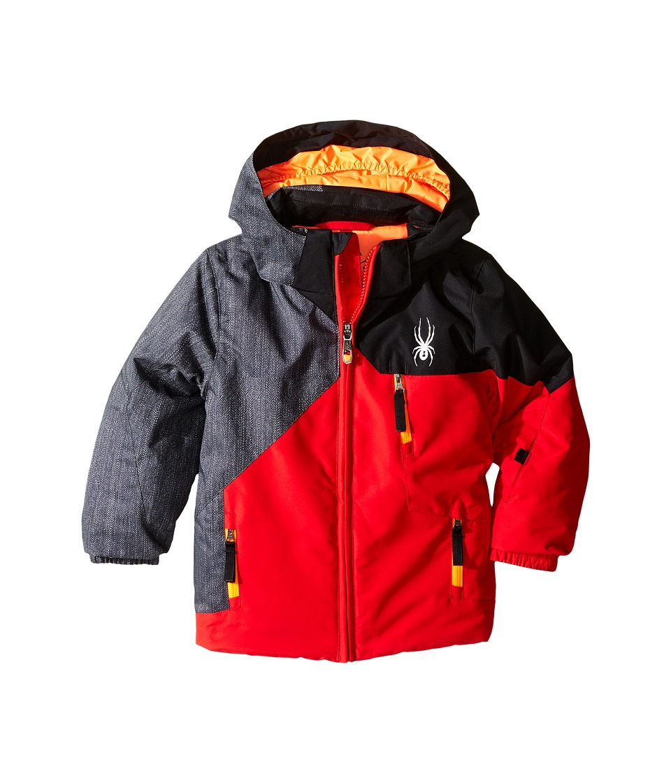 Spyder Kids - Mini Ambush Jacket (Toddler/Little Kids/Big Kids) (Red/Herringbone/Black) Boy's Coat