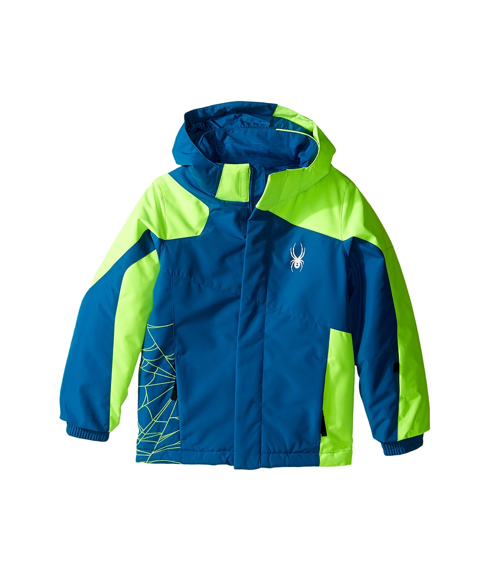 Spyder Kids - Mini Guard Jacket (Toddler/Little Kids/Big Kids) (Concept Blue/Bryte Green) Boy's Coat