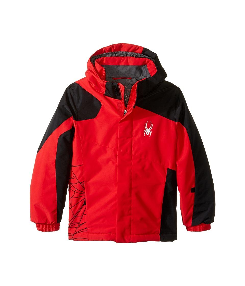 Spyder Kids - Mini Guard Jacket (Toddler/Little Kids/Big Kids) (Red/Black) Boy's Coat