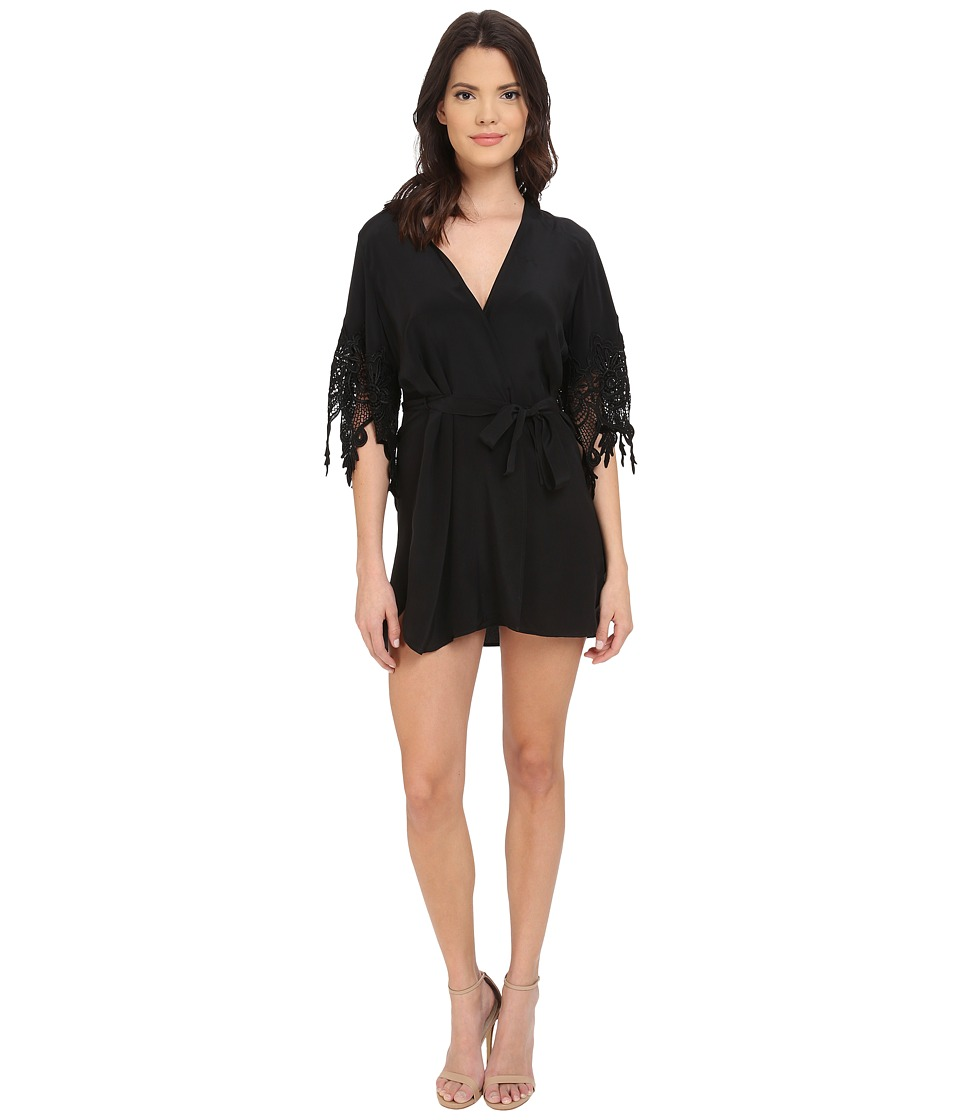 Stone Cold Fox - Fox Robe (Black) Women's Robe
