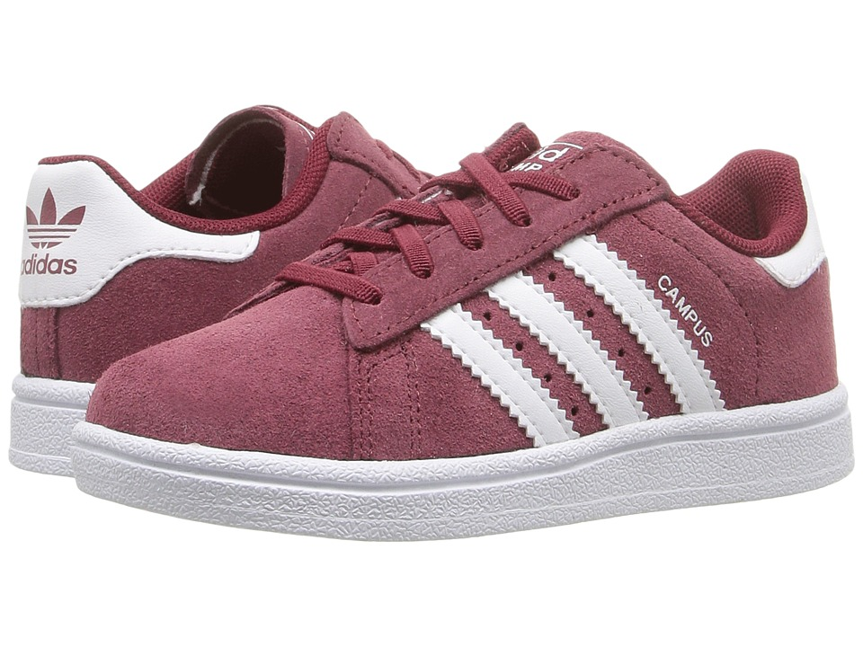 adidas Originals Kids - Campus 2 (Toddler) (Collegiate Burgundy/White/White) Kids Shoes