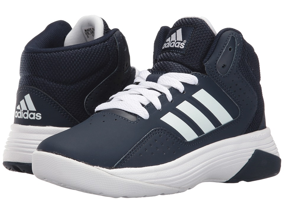 adidas Kids Cloudfoam Ilation Basketball (Little Kid/Big Kid) (Collegiate Navy/White/White) Boys Shoes
