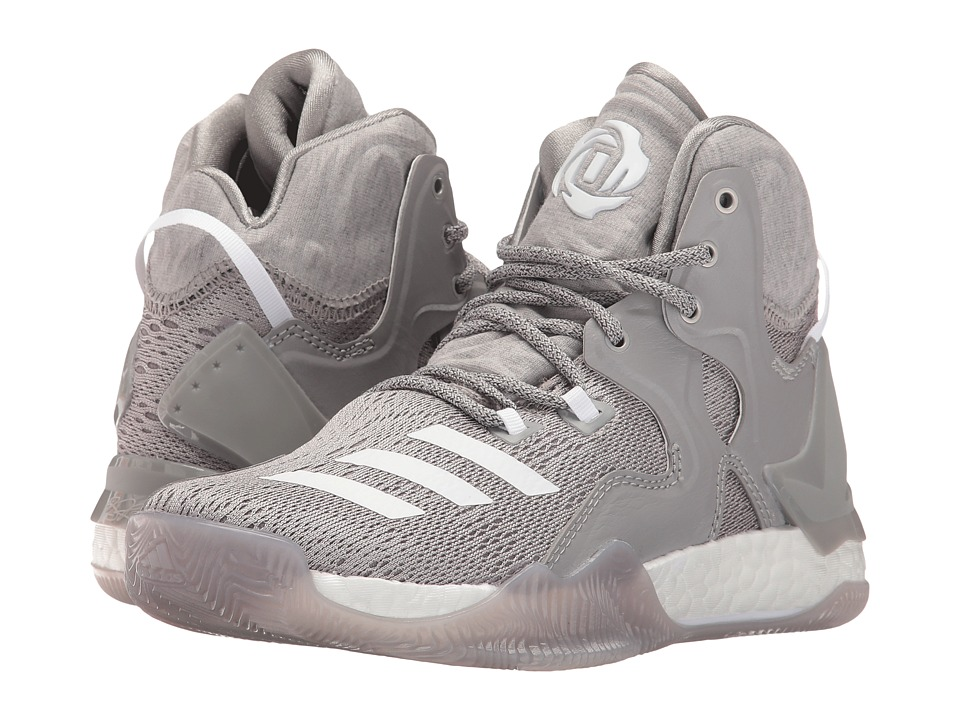 adidas Kids - D Rose 7 (Big Kid) (Medium Grey Heather/Footwear White/Medium Grey Heather Solid Gre) Boys Shoes