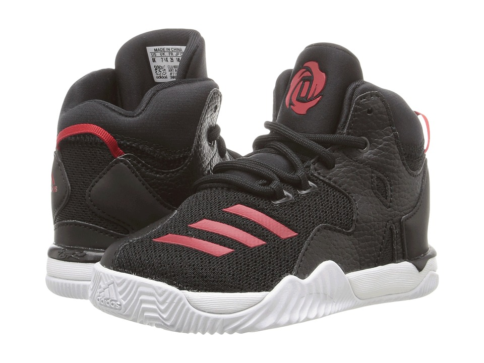 adidas Kids - D Rose 7 (Infant/Toddler) (Core Black/Ray Red/Core Black) Boys Shoes