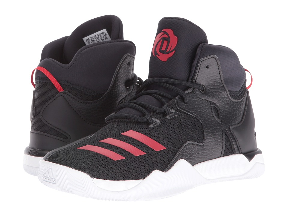adidas Kids - D Rose 7 (Little Kid) (Core Black/Ray Red/Footwear White) Boys Shoes