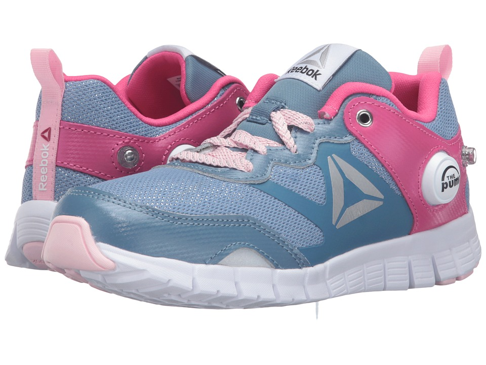 Reebok Kids - ZPump Instinct WW (Little Kid) (Slate/Rose Rage/Luster Pink/White/Silver) Girls Shoes
