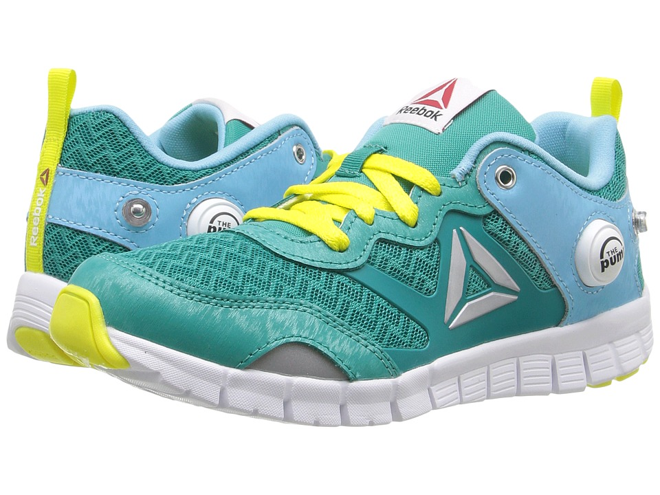 Reebok Kids - ZPump Instinct (Little Kid) (Totally Teal/Crisp Blue/Hero Yellow/White/Silver) Girls Shoes