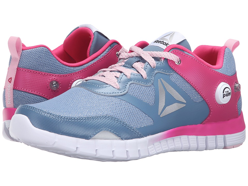 Reebok Kids - ZPump Instinct WW (Big Kid) (Slate/Rose Rage/Luster Pink/White/Silver) Girls Shoes