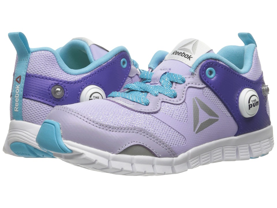 Reebok Kids - ZPump Instinct WW (Little Kid) (Lavender/Ultima Purple/Crisp Blue/White/Silver) Girls Shoes