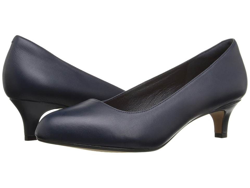 Clarks - Heavenly Shine (Navy Leather) Women's Shoes