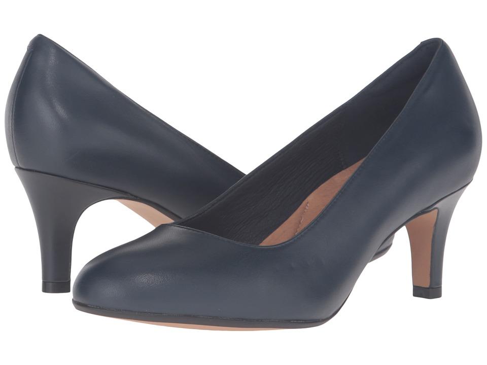 Clarks - Heavenly Heart (Navy Leather) Women's Shoes