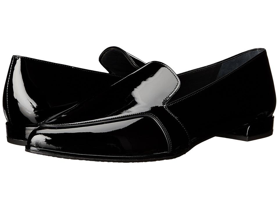 Stuart Weitzman - Pipelopez (Black Patent) Women's Slip on Shoes