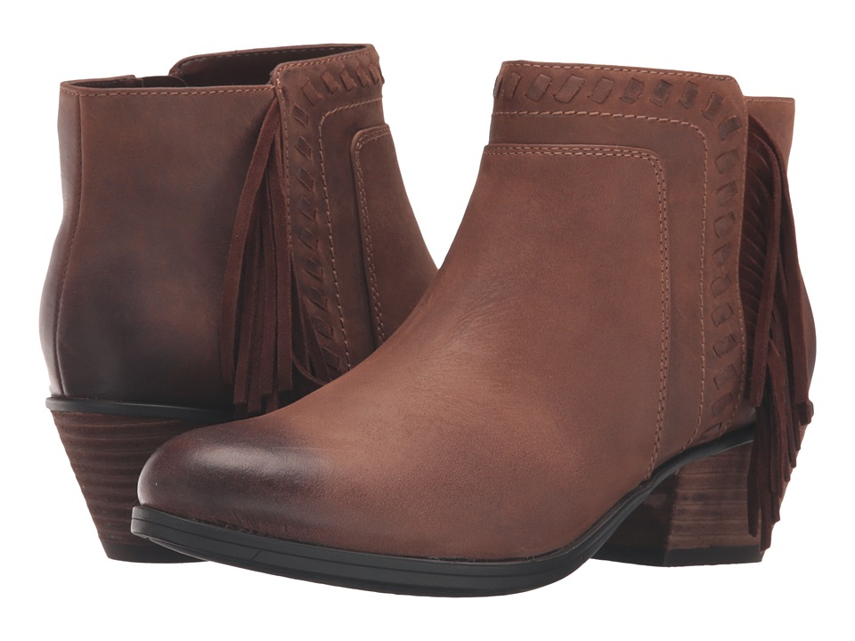 Clarks - Gelata Flora (Brown Leather) Women's Boots