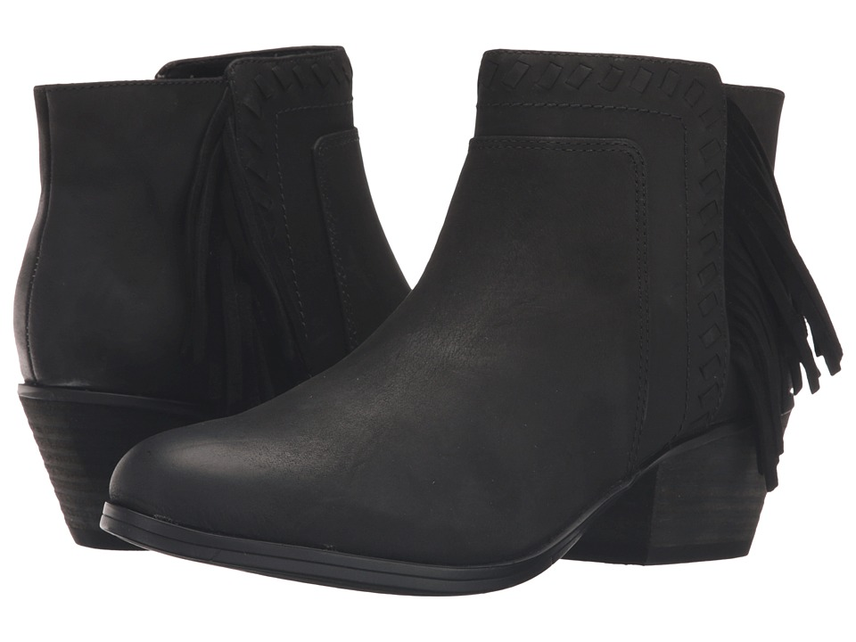 Clarks - Gelata Flora (Black Leather) Women's Boots