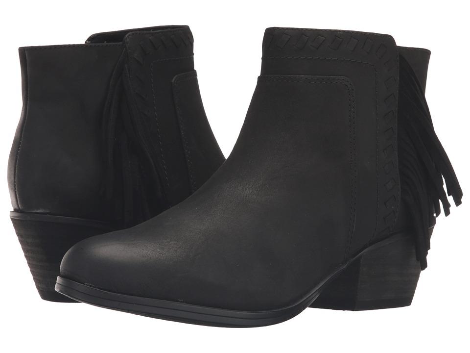 Clarks Gelata Flora (Black Leather) Women