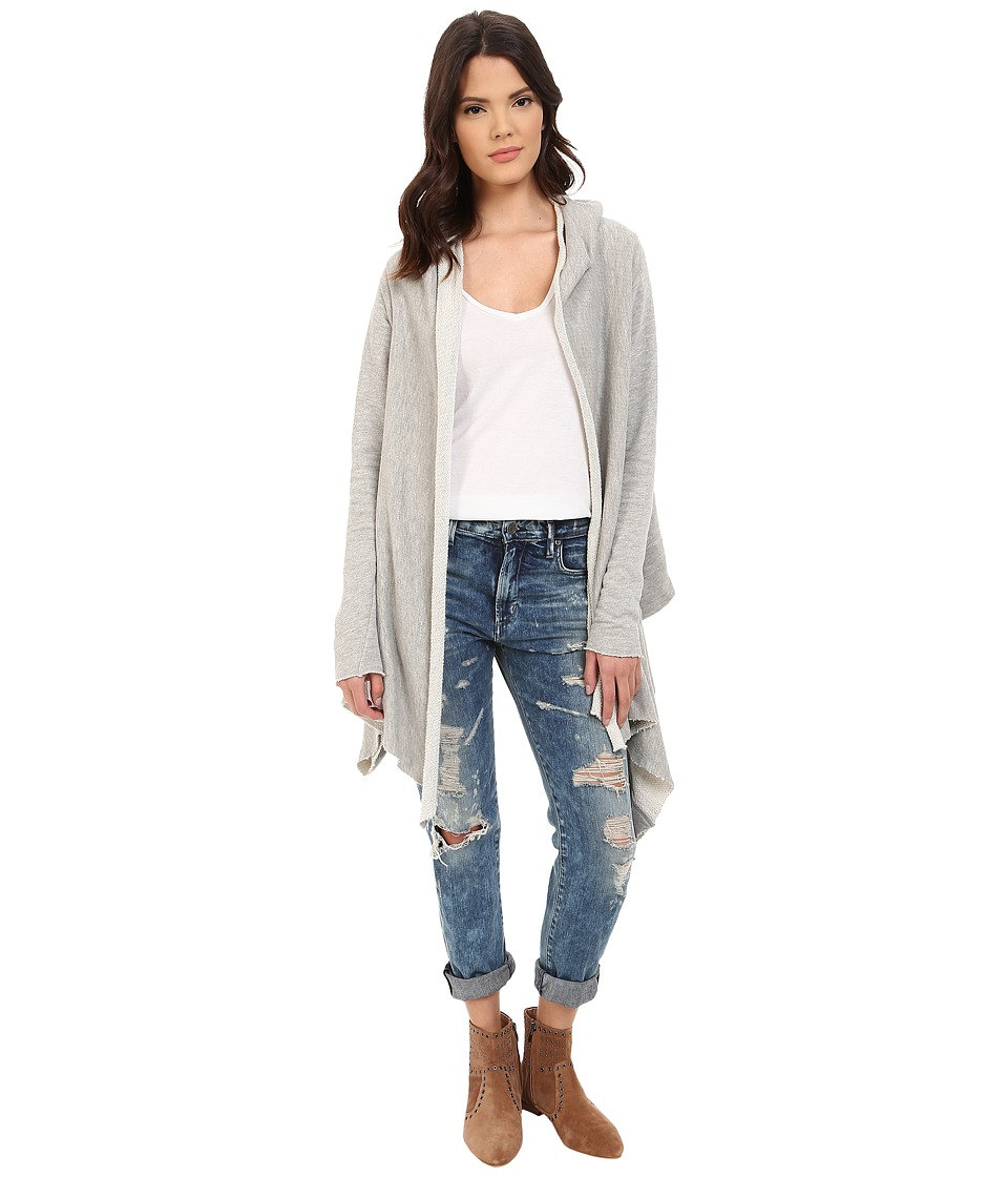 Project Social T - Lake House Cardi (Washed Heather Grey) Women's Sweater
