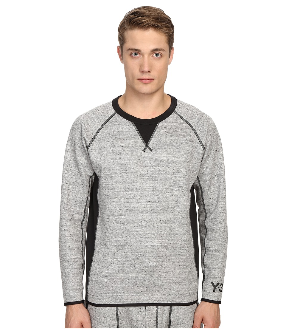 adidas Y-3 by Yohji Yamamoto - Digital Sweater (CC Grey) Men's Long Sleeve Pullover