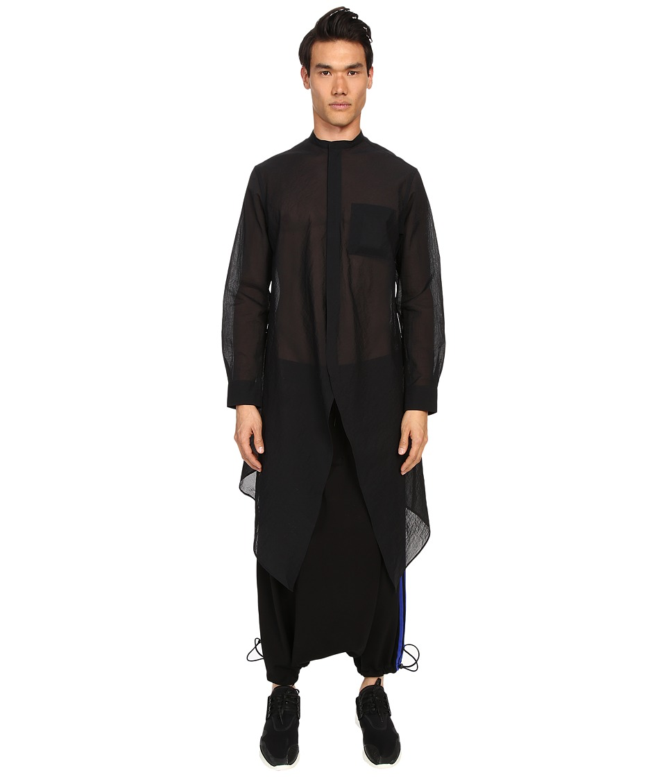adidas Y-3 by Yohji Yamamoto - Airm L Shirt (Black) Men's Clothing