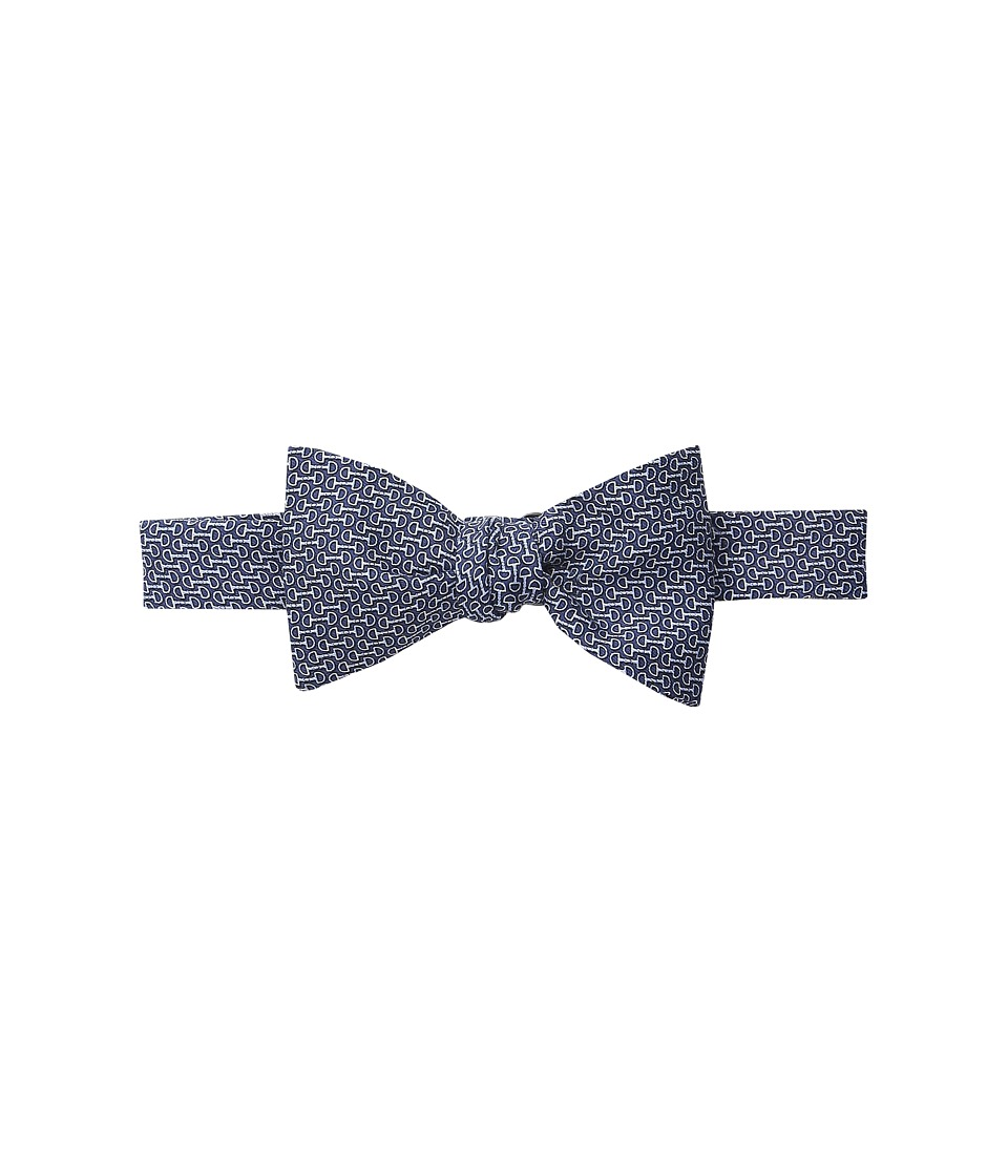 Vineyard Vines - Printed Bow Tie-Bits (Navy) Ties