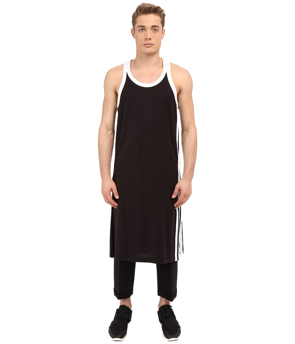 adidas Y-3 by Yohji Yamamoto - Zip Tank Top (Black) Sleeveless