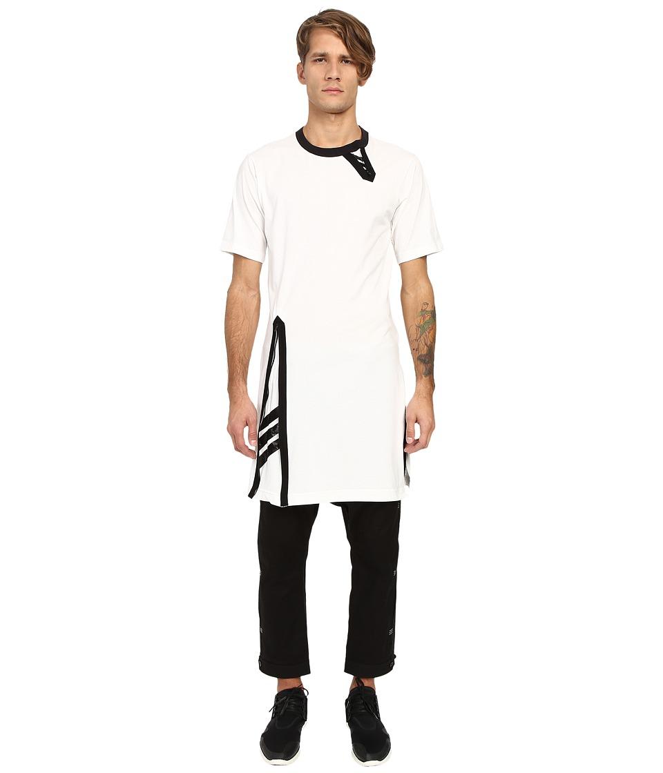 adidas Y-3 by Yohji Yamamoto Zip Tee (Core White) T Shirt
