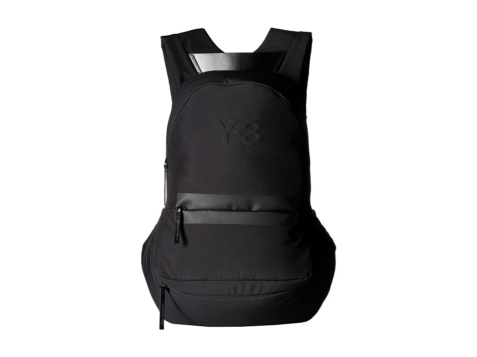 adidas Y-3 by Yohji Yamamoto - FS Round Backpack (Black) Backpack Bags
