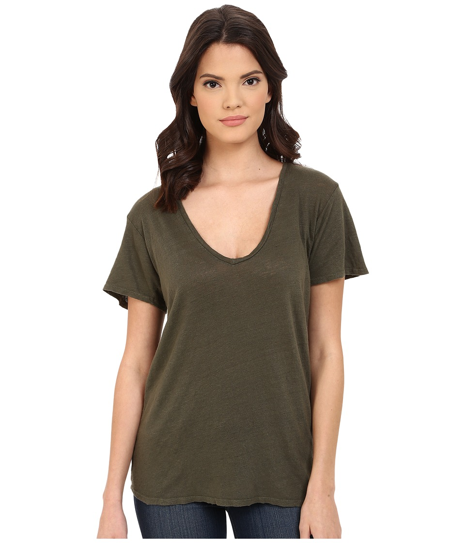 Project Social T - Grace Linen Tee (Army) Women's T Shirt