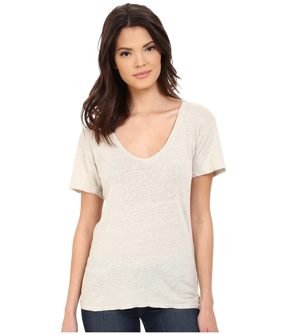 Project Social T - Grace Linen Tee (Bone) Women's T Shirt