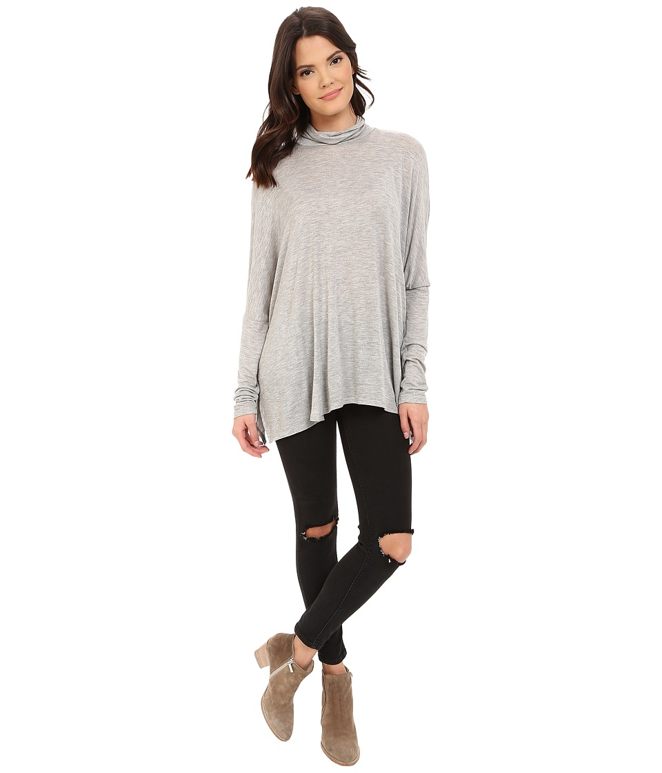 Project Social T - Ann Mock Neck (Heather Grey) Women's Clothing