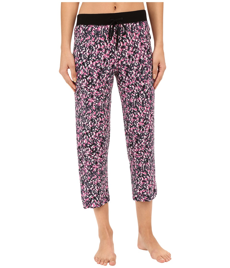 DKNY - Black Abstract Capris (Black Abstract) Women's Pajama