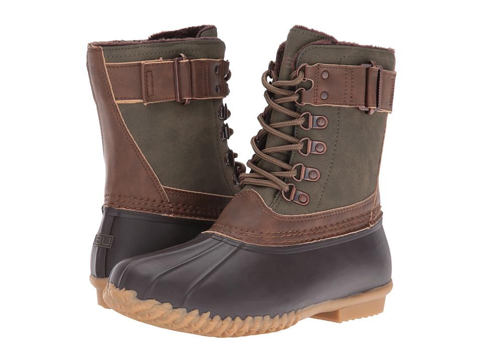 JBU - Nova Scotia (Army Green/Brown) Women's Shoes