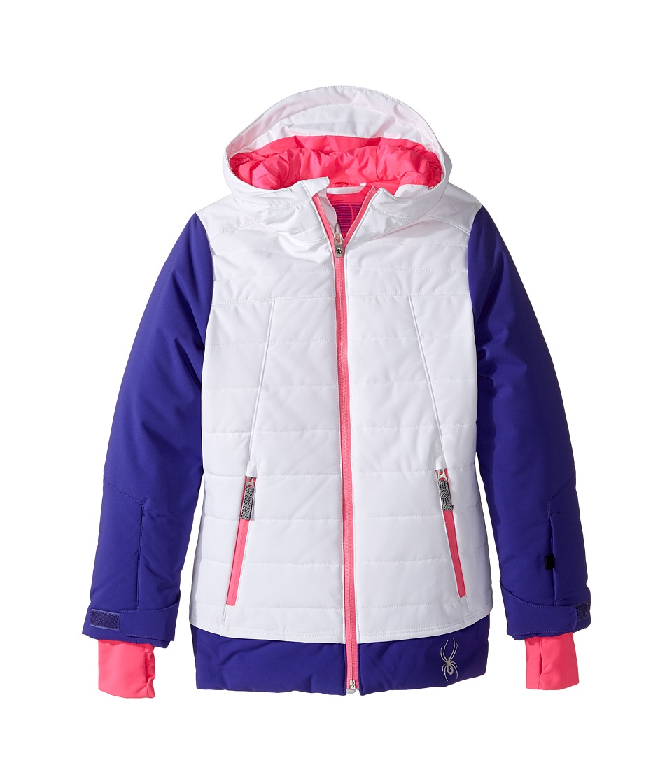 Spyder Kids - Moxie Jacket (Big Kids) (White/Pixie/Bryte Bubblegum) Girl's Coat