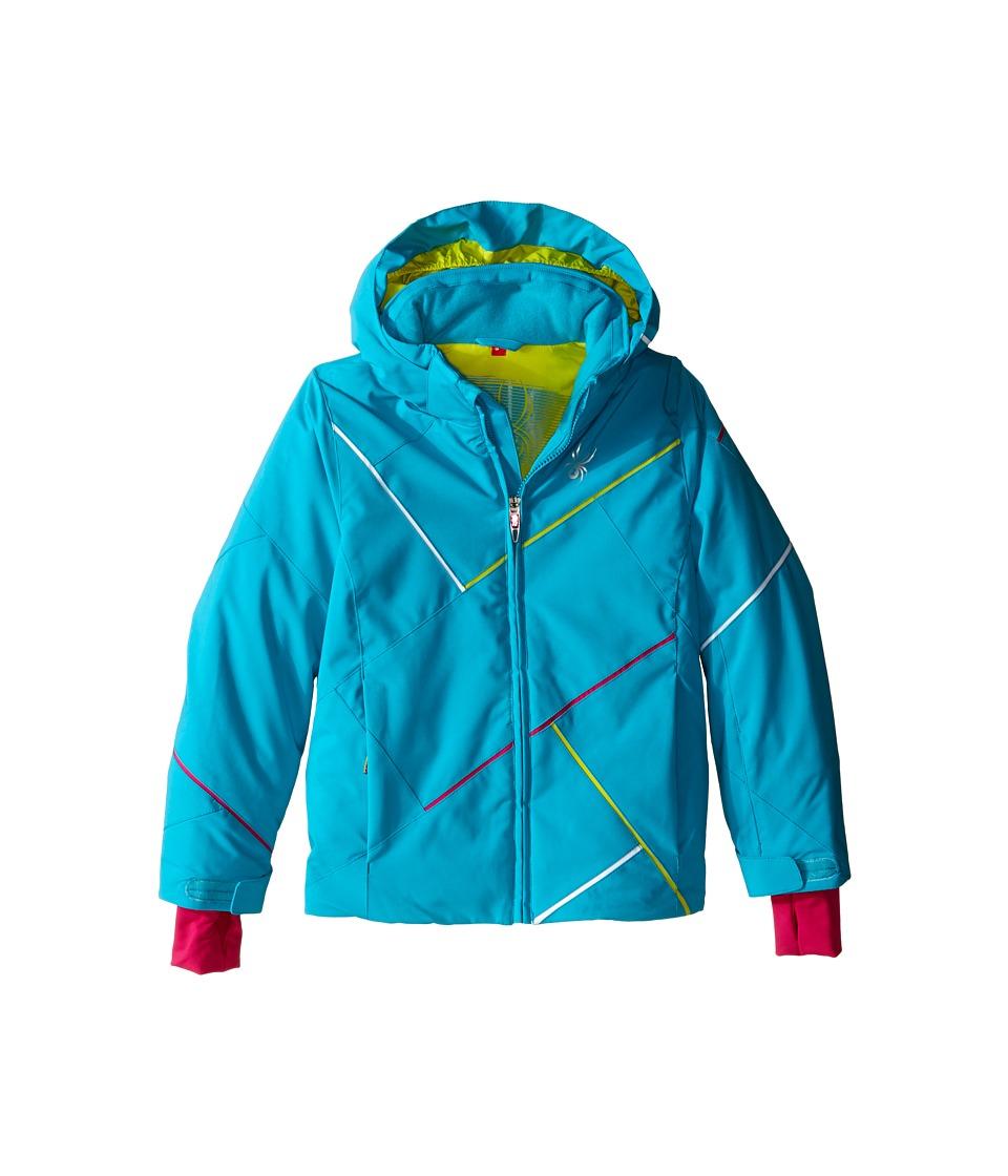 Spyder Kids - Tresh Jacket (Big Kids) (Bluebird/Acid/Voila) Girl's Coat