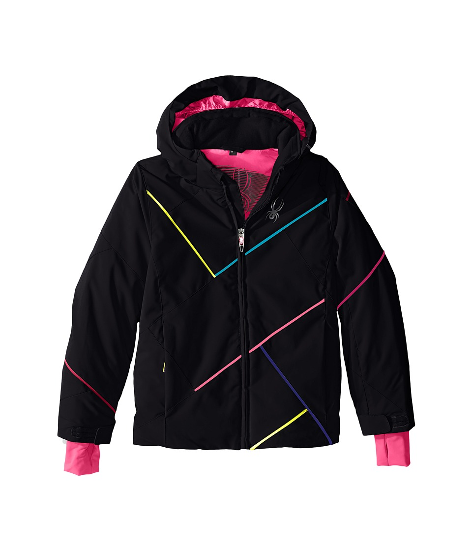 Spyder Kids - Tresh Jacket (Big Kids) (Black/Bryte Bubblegum/Multi) Girl's Coat