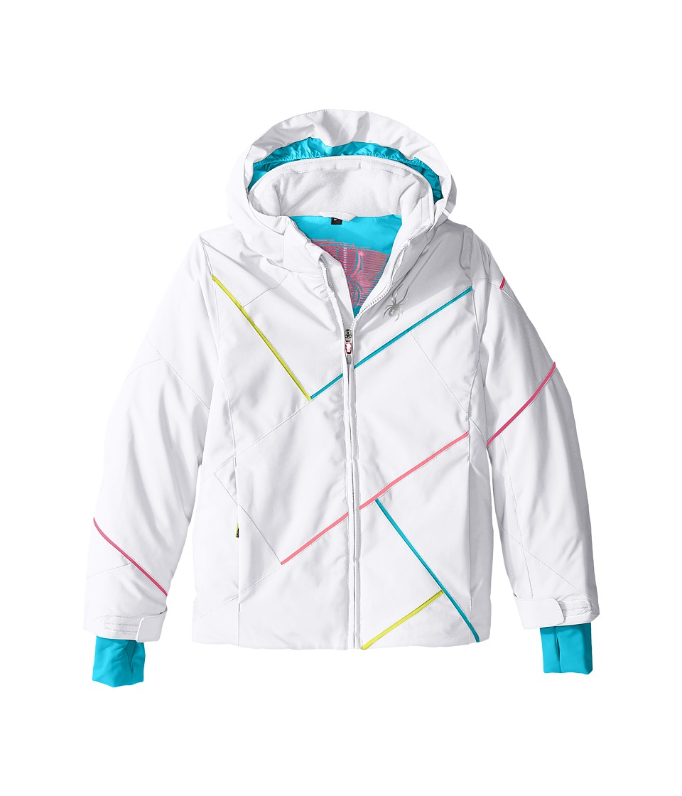 Spyder Kids - Tresh Jacket (Big Kids) (White/Bluebird/Multi) Girl's Coat