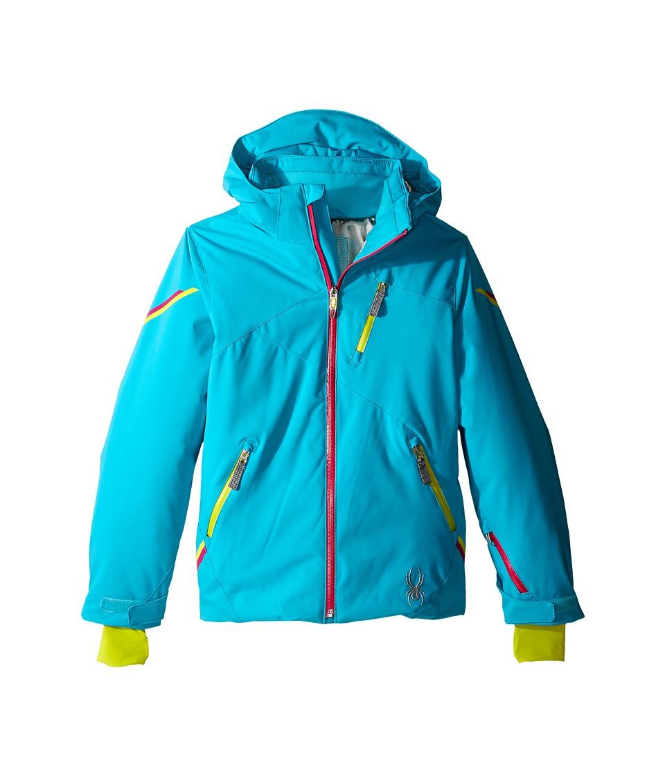 Spyder Kids - Pandora Jacket (Big Kids) (Bluebird/Voila/Acid) Girl's Coat