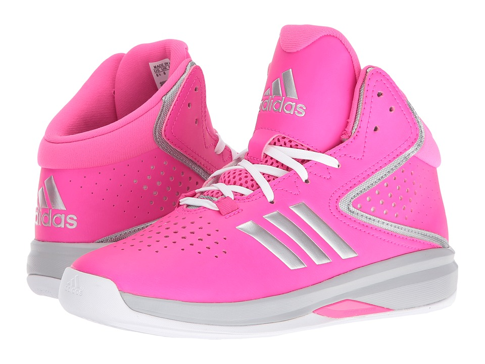 adidas Kids - Cross 'Em Up 2016 (Little Kid/Big Kid) (Shock Pink/Silver Metallic/Clear Onix) Girls Shoes