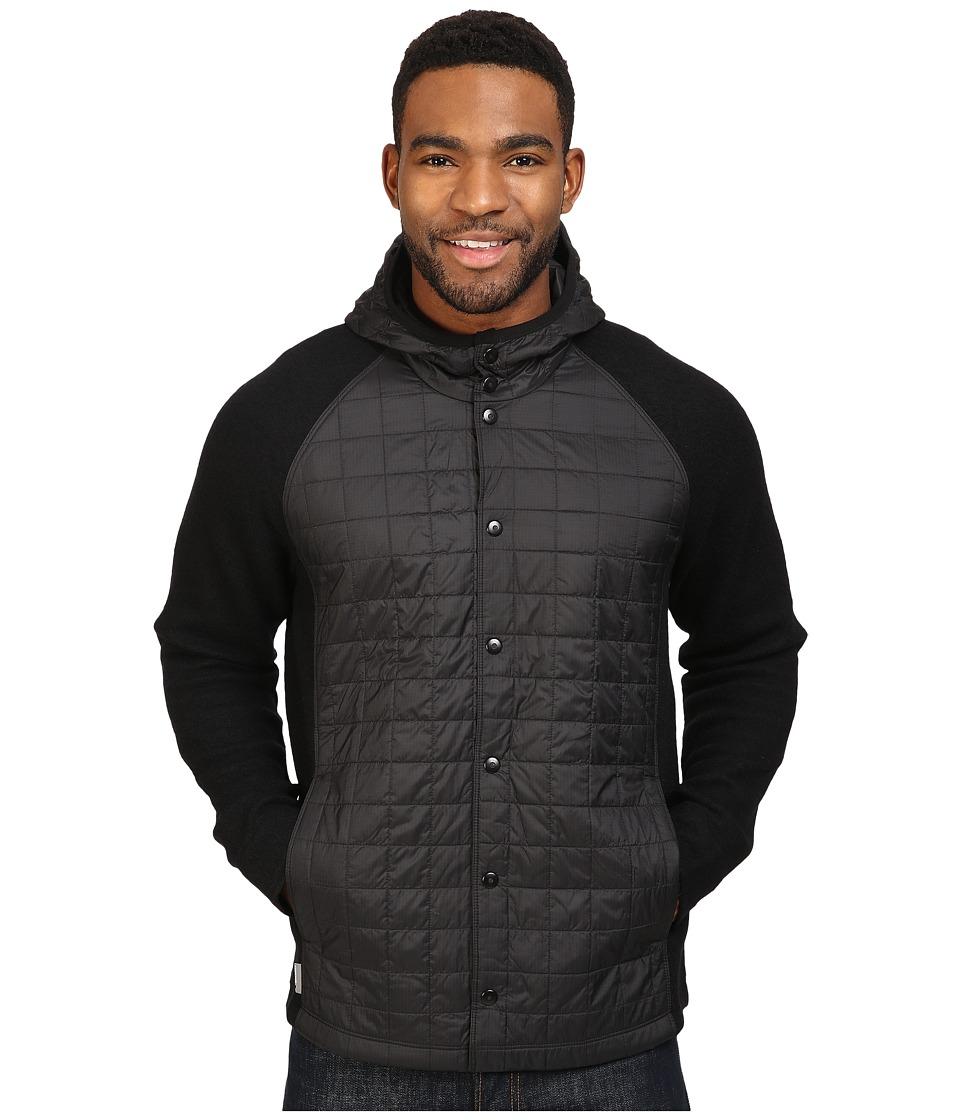 Icebreaker - Departure Jacket (Black/Metro Heather/Stealth) Men's Coat