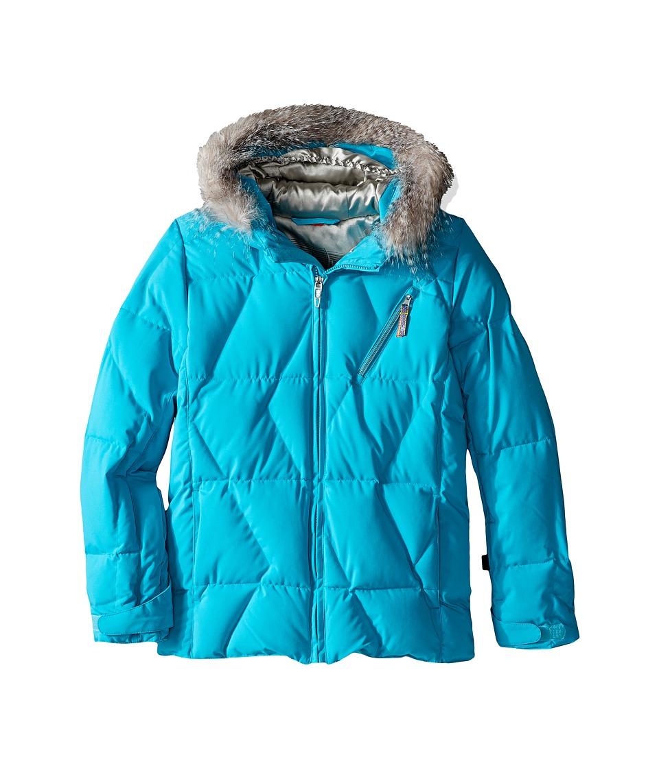 Spyder Kids - Hottie Jacket (Big Kids) (Bluebird/Silver) Girl's Coat
