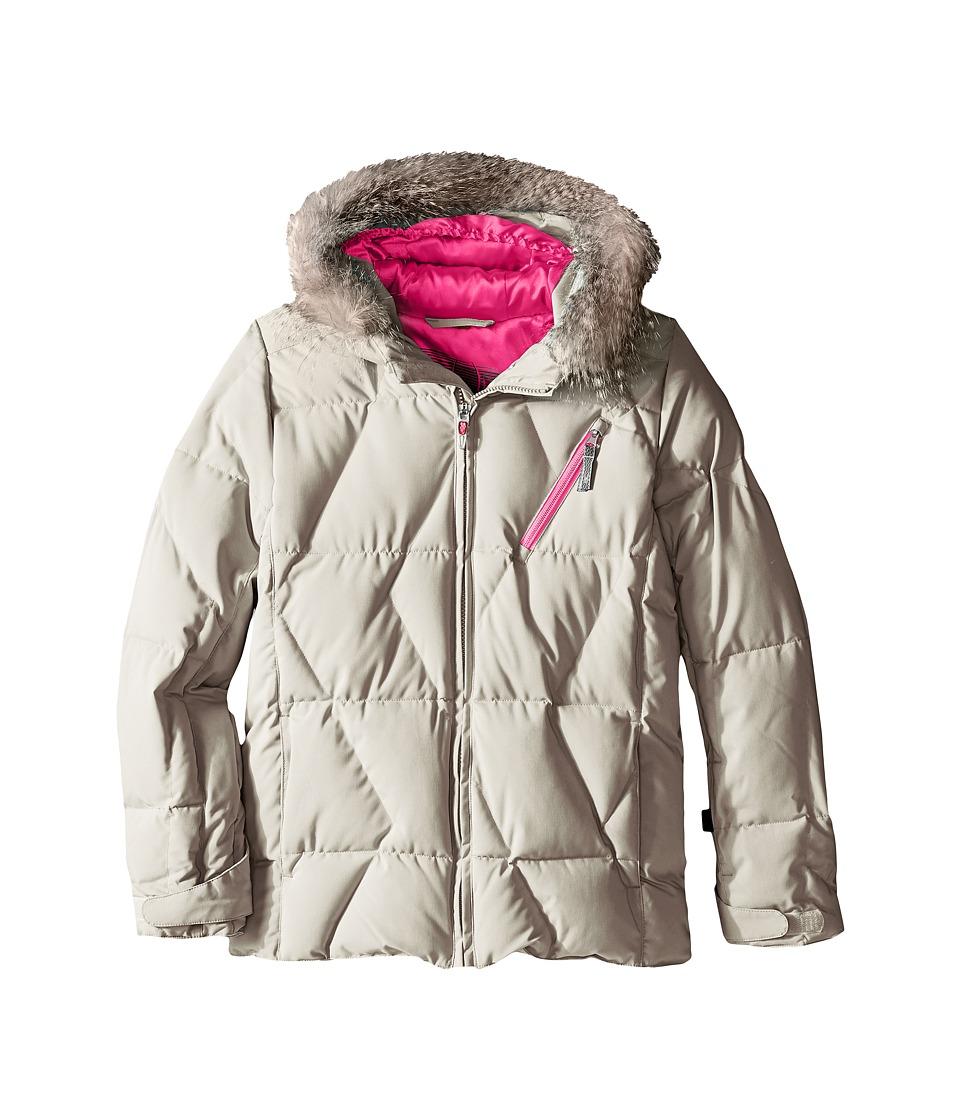 Spyder Kids - Hottie Jacket (Big Kids) (Silver/Bryte Bubblegum) Girl's Coat