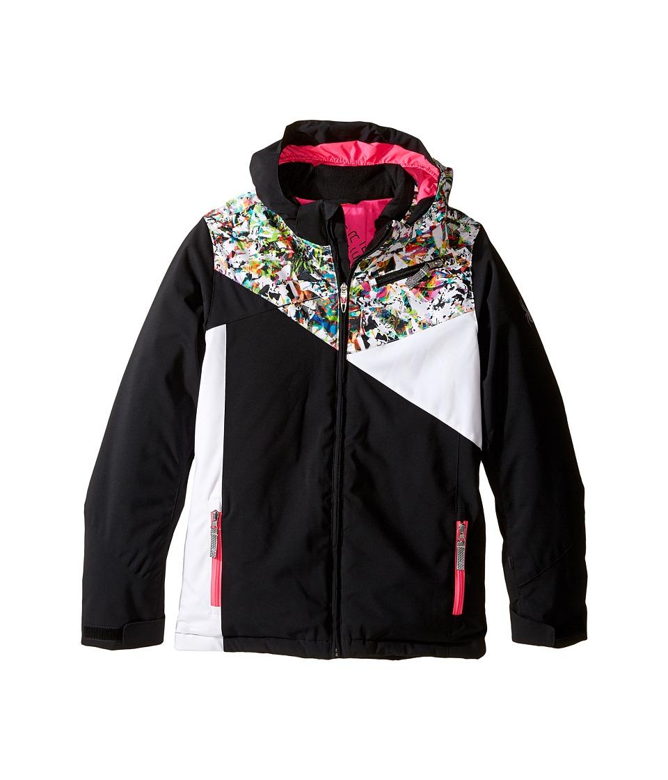 Spyder Kids - Project Jacket (Big Kids) (Black/Kaleidoscope/White) Girl's Coat