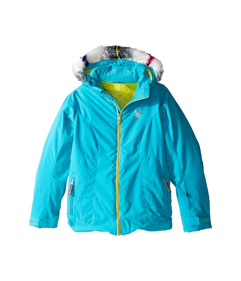 Spyder Kids - Eve Jacket (Big Kids) (Bluebird/Acid) Girl's Coat