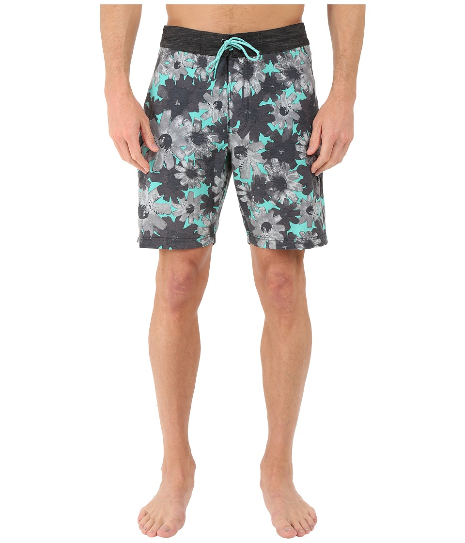 VISSLA - Vendetta 4-Way Stretch Boardshorts 18.5 (Jade) Men's Swimwear