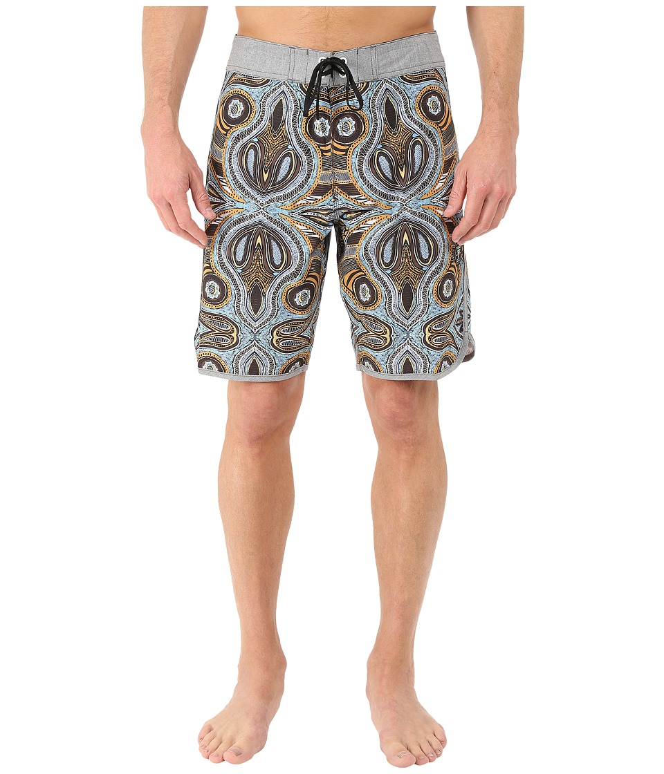 VISSLA - Mystery Reef 4-Way Stretch Boardshorts 20 (Dark Brown) Men's Swimwear