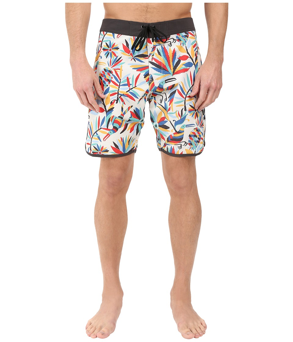 VISSLA - Aloha Amigo 4-Way Stretch Boardshorts 18.5 (Bone) Men's Swimwear